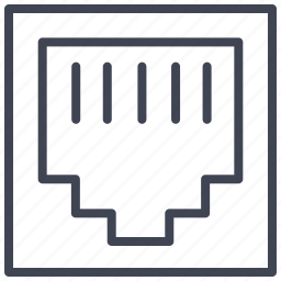 cable, connection, internet, port, telephone icon