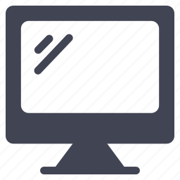 computer, device, monitor, screen, technology, television icon