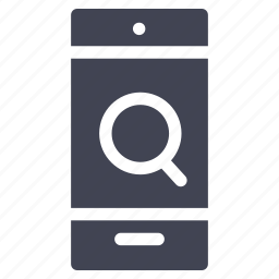 magnifier, mobile, phone, search, smartphone, technology icon