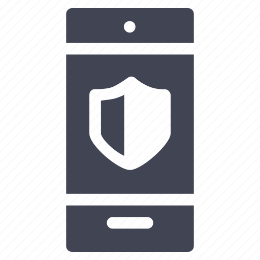 mobile, phone, safety, security, shield, smartphone, technology icon