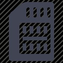 card, guardar, save, sim, storage, technology icon