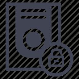 security, storage, technology, unlock, unlocked icon
