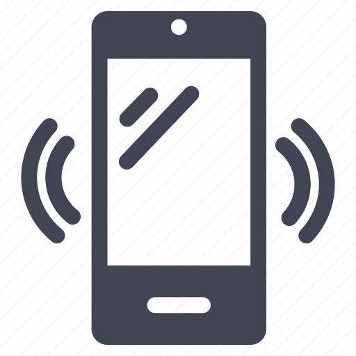 alert, communication, phone, smartphone, technology, vibration icon