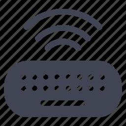 computer, device, keyboard, technology, type, wireless icon