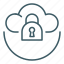 cloud, data, locked, secured, security