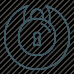 locked, padlock, password, secured, security icon