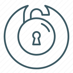 opened, padlock, password, security, unsecured icon