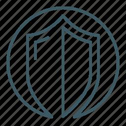 defense, protection, security, shield, ward icon
