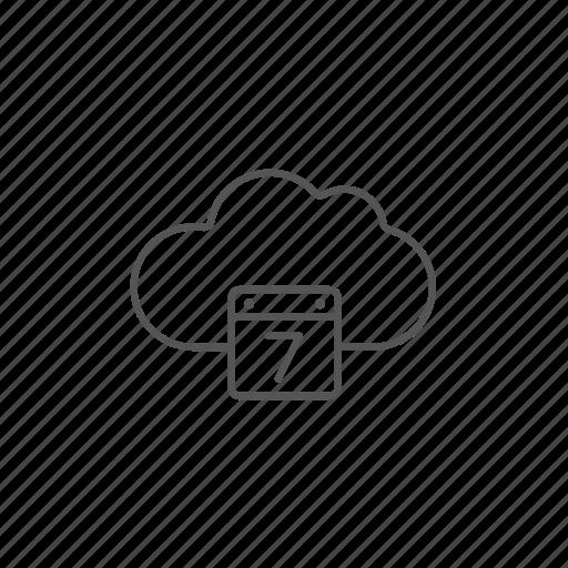 calendar, cloud, computing, date, graphic, online, schedule icon