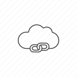 chain, cloud, computing, connection, internet, link, network icon