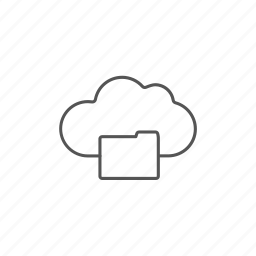 cloud, connection, database, document, files, folder, server icon