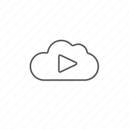 cloud, database, music, play, player, sound, storage icon