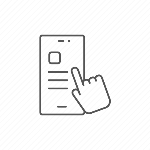 click, electronic, finger, hand, smartphone, tablet, touchscreen icon