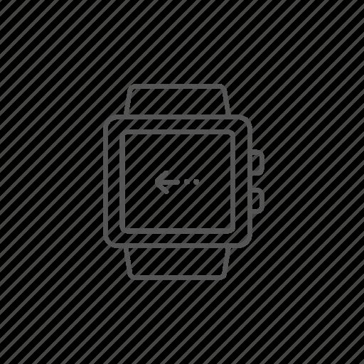 arrow, finger, gesture, interface, screen, smartwatch, swipe icon