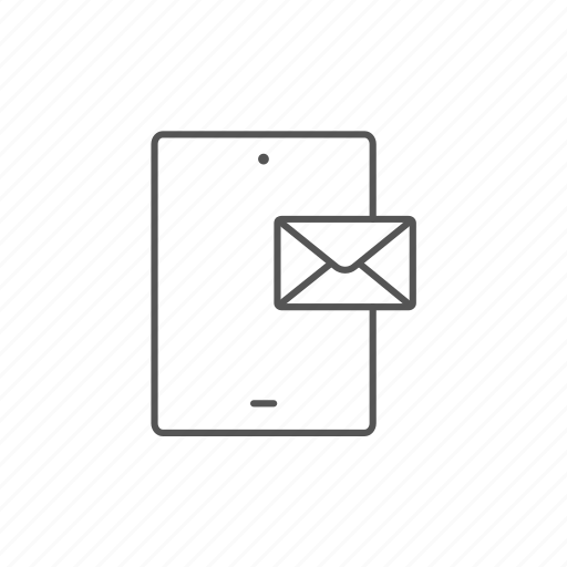 contact, email, envelope, letter, mail, message, tablet icon