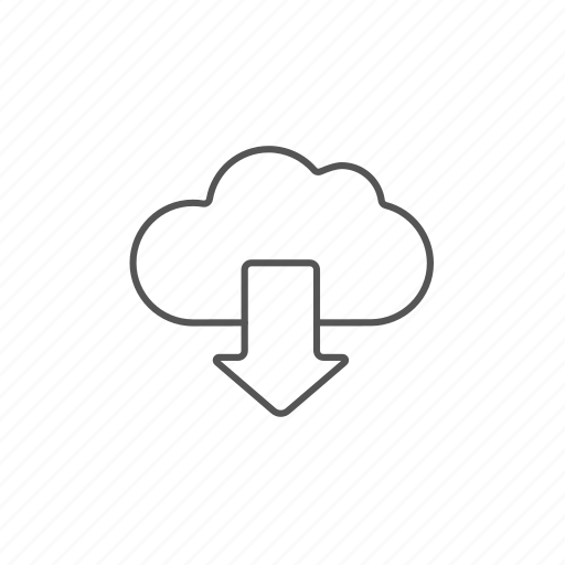 arrow, cloud, database, download, downloading, share, storage icon