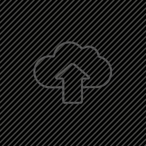 cloud, database, remote, server, storage, upload, uploading icon