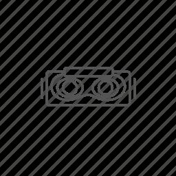 3d, cyberspace, eyewear, headset, mask, reality, virtual icon