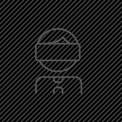 3d, game, headset, man, reality, view, virtual icon