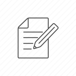 blank, diary, information, note, notepad, pencil, reminder icon