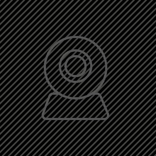 call, camera, conference, network, video, visual, web icon