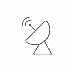 antenna, connection, radar, radio, satellite, signal, wave icon