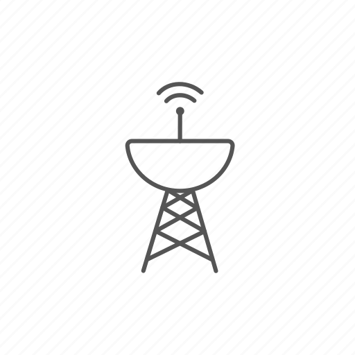 antenna, dish, radar, radio, satellite, signal, wave icon