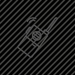 antenna, portable, radio, set, transceiver, walkie, wave icon