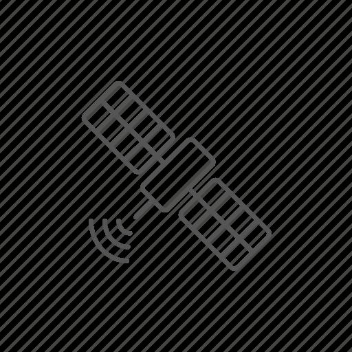 antenna, connection, internet, orbit, satellite, space, wireless icon