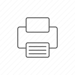 document, ink, jet, machine, office, paper, printer icon