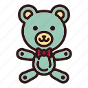 animal, bear, childhood, doll, gift, teddy, toy icon