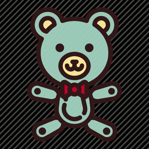 animal, bear, childhood, doll, gift, teddy, toy icon