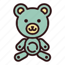 animal, bear, childhood, cute, doll, teddy, toy icon