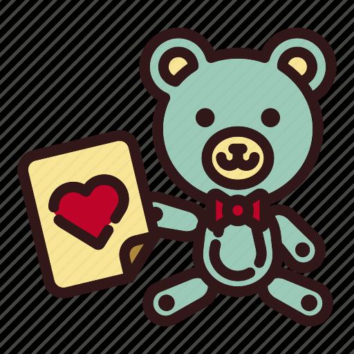 Animal, bear, doll, love, teddy, toy, valentine icon - Download on Iconfinder