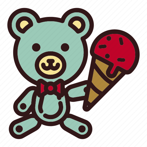 Animal, bear, doll, icecream, sweet, teddy, toy icon - Download on Iconfinder