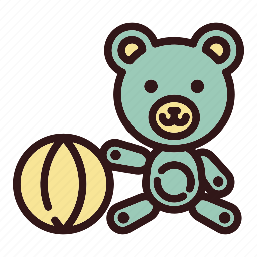 Ball, bear, chidhood, doll, play, teddy, toy icon - Download on Iconfinder