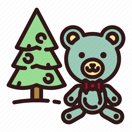 Bear, christmas, christmas tree, forest, teddy, toy, tree icon - Download on Iconfinder