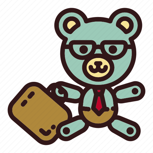 Bear, business, businessman, office, teddy, toy, trade icon - Download on Iconfinder