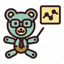 analysis, bear, line graph, teddy, toy, trade, trading icon