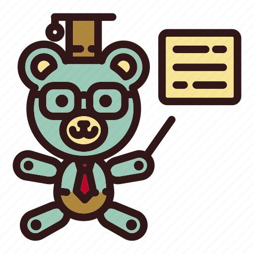 Bear, education, teach, teacher, teddy, toy, university icon - Download on Iconfinder