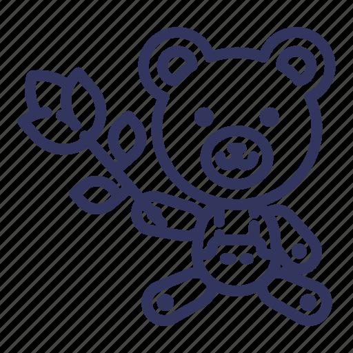 Bear, flower, love, teddy, toy, valentine icon - Download on Iconfinder