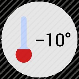 cold, condition, degrees, minus, temperature icon