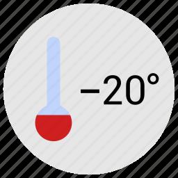 cold, condition, degrees, minus, temperature, thermometer icon