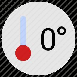 cold, condition, temperature, thermometer, zero icon