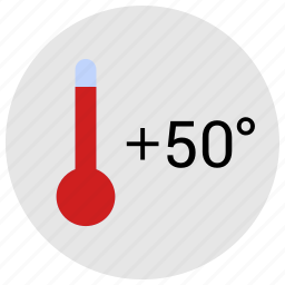 condition, degrees, fifty, hot, temperature icon