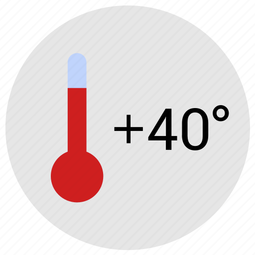 condition, hot, temperature, thermometer, weather icon