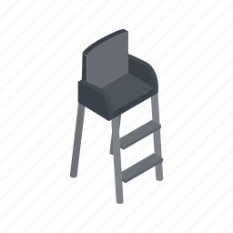 chair, game, isometric, judge, match, referee, tennis icon