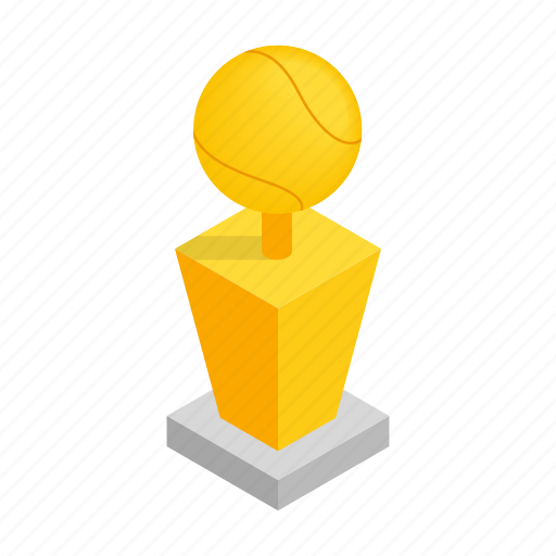 award, ball, game, isometric, prize, sport, tennis icon