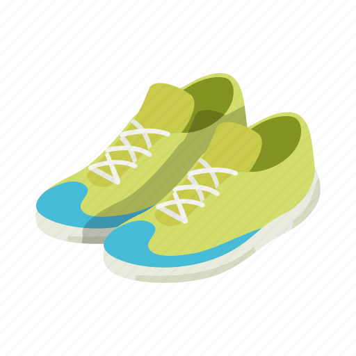 athletic, isolated, isometric, shoe, sneaker, sport, tennis icon