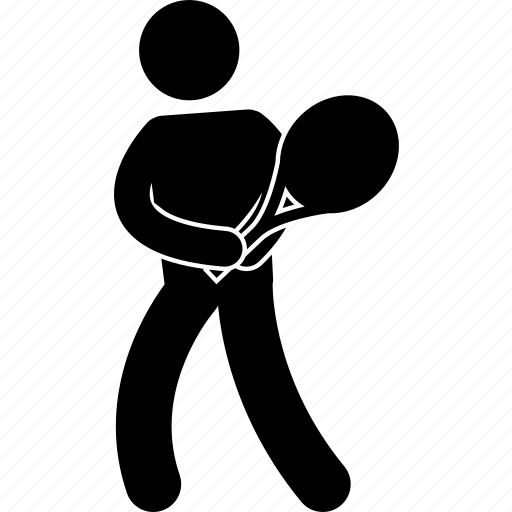 Athlete, player, playing, racket, racquet, swing, tennis icon - Download on Iconfinder
